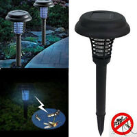 UV LED Solar Powered Outdoor Mosquito Insect Pest Bug Zapper Killer