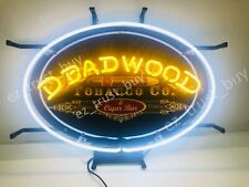 "Deadwood Tobacco Cigar Open Lamp Light Neon Sign 20""x14"" Hd Vivid Printing"