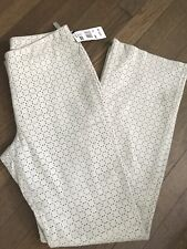 New $275  Exclusive KENNETH COLE White, Perforated Leather PANTS, size 8