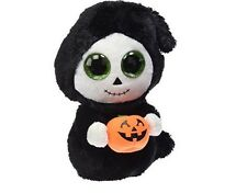 "Ty Beanie Boos ~ TREATS the 6"" Halloween Ghost w/ Pumpkin ~ 2015 NEW With Tag"