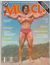 Muscle Training Bodybuilding magazine Mike Mentzer/Rafael Olivera poster 12-78