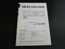 Original Service Manual AKAI CD-M600