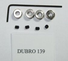 """Du-Bro 139 Dura-Collars 1/8"""" With Wrench Qty (4)"""