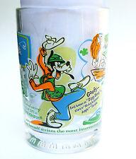 100 Years Magic Walt Disney World McDonalds Drinking Glass Tumbler Goofy Mickey