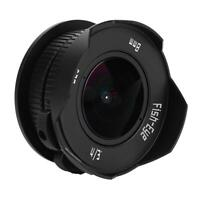 8mm F/3.8 C Mount MF Fisheye Lens Mirrorless for Micro4/3 MFT M4/3 Full Frame CM