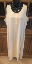 NWT Christian Dior Summer 100% Cotton Long Pale Yellow Gold Nightgown  Medium #7