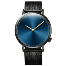 Mens Womens Classic Gold Quartz Stainless Steel Alloy Strap Unisex Wrist Watches