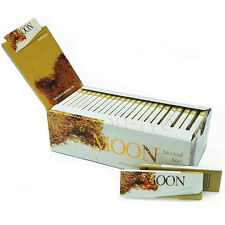 """Moon 1.0"""" 50 booklets 70*36mm Cigarette Tobacco Rolling Papers Unbleached Papers"""