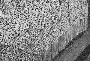 Vintage Crochet Pattern to Make Crochet Bedspread ~ 1940's ~ Textured in Beauty