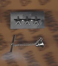 """US ARMY Officer Lt. General LTG 0-9 rank clutchback badge tie tack C 1.25"""""""
