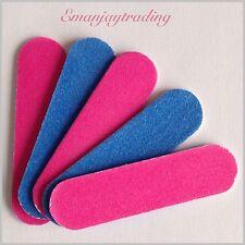 5 Mini Emery Boards/Nail Files, 100/240 Grit Travel/Handbag Size