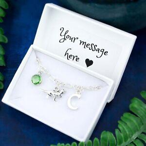 Dinosaur Bracelet, Personalised Jewellery, T Rex Gifts, Cute Dino Charm Bracelet
