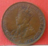 1922 Commonwealth of Australia one Penny M & P  KM# 23 B-227