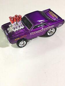 MUSCLE MACHINES Loose 1:64 1968 Dodge Dart Red Light Bandit Blown Drag Car Nice
