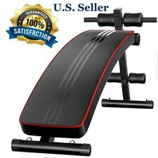 Folding Adjustable Abs Sit Up Crunch Bench Decline Fitness Home Gym Workout US