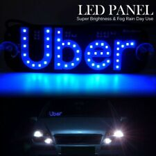 UBER1 BLUE LED Sign Light Acrylic Car Inside Window USB Powered On/Off Switch