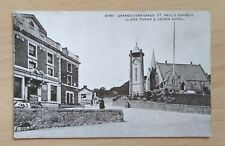 Grange-over-Sands - St Paul's Church, Clock Tower and Crown Hotel, -unposted
