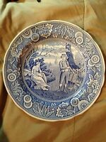 """The Spode Blue Room Collection Georgian Series """"Woodman"""" Dinner Plate 10 1/2"""""""