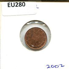 2002 PORTUGAL 1 CENT  #EU280.EW