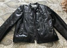 Levi's Brown Faux Leather Jacket, Men SZ L, Polyvinyl, Excellent