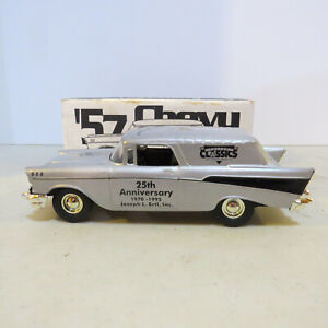 Scale Models '57 Chevy Custom Classic 25th Ann. Signed J. Ertl Bank DW-HC223-B