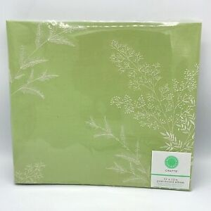 Martha Stewart Green with White Stitched Flowers Post Bound Album