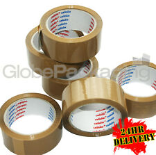 72 Rolls LOW NOISE BROWN Packaging Parcel Tape 48mmx66m