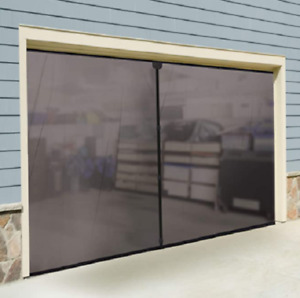Outdoor Screen Garage Door Screen Magnetic Two Car Garage Weighted Bug Enclosure