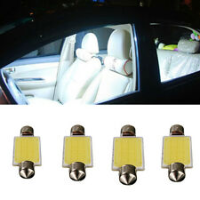 4X Canbus COB 12smd 41mm No Error Free C5W Led Reading Signal light white