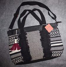 Mossimo Tote Crossbody Bag Shoulder Large Womens Handbag Black and White Beach