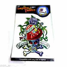 Laptop Tattoo Notebook Skins Love Heart Skull Design NEW Wholesale Job Lot 12