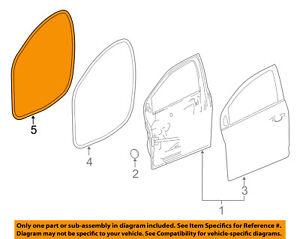 Chevrolet GM OEM 12-16 Sonic Front Door-Weatherstrip Seal on Body Left 95190186