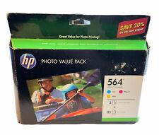 HP 564 Ink Cartridges Photo Value Pk 85 Sheets 3 Colors # CG925AN EXP Dec 2013