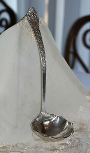 """AMERICAN GORHAM 19th C STERLING SILVER OLD MEDICI 13"""" SOUP LADLE c.1890"""