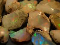 200 Carats AAA Top Gem Grade Ethiopian Welo Opal Rough all with Fire and Color