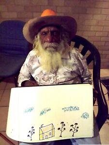EXTREMELY RAREDRAWING-01 by Kudditji Kngwarreye Australian Indigenous Art +Cert