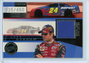 JEFF GORDON 2002 02 PRESS PASS UNDER COVER RACE USED CAR COVER #ED 335/450