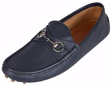 NEW Gucci Men's 236936 Blue Leather Drivers Loafers Shoes 9.5 G 10.5 U.S.