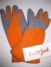 Cat & Jack Fleece Gloves - Orange & Gray - Size 4-7
