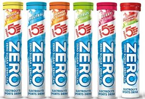 HIGH5 ZERO Electrolyte Hydration Tablets With vit C Sport Drink 7 Tasty Flavours