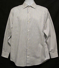 BANANA REPUBLIC White Blue Stripe Long Sleeve Casual Mens Medium M 15-15 1/2