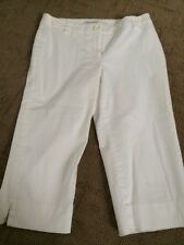 White House Black Market White Capri Pants  Size 4 Worn Twice