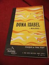 Partitura Doña Isabel y Maria Soledad De Paul Piot Bolero