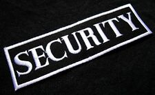 NAME TAG SECURITY LOGO BLACK & WHITE Embroidered Iron on Patch Free Shipping