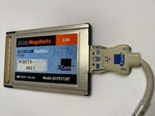 3Com Megahertz 10/100 Pc Lan CardBus Pc Card W/ Dongle Model 3Ccfe575Bt