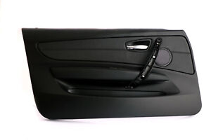 *BMW 1 Series 1 E81 E82 Front Left N/S Door Lining Card Black Leather