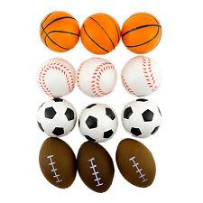 12PC Sports Stress Balls Foam Basketball Football Soccer Baseball Toys Activity