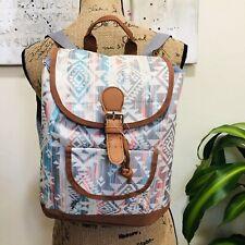 Boho Chic Fashion Backpack Bookbag Aztec Print Handbags