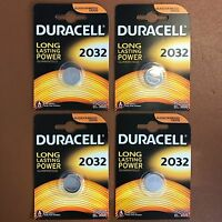 4 x DURACELL DL/CR 2032 3V Lithium Coin Cell Battery Batteries EXPIRY 2029