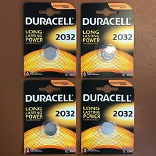 4 x DURACELL DL/CR 2032 3V Lithium Coin Cell Battery Batteries EXPIRY 2027